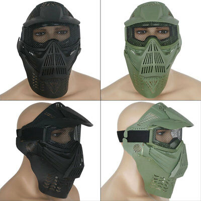 Eye Mesh Full Face Mask Guard Protect For Paintball Airsoft Game Hunting AU