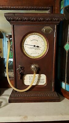 NATIONAL SPIROMETER Penny Arcade Coin Op Lung Strength Tester