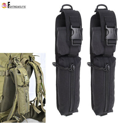2PCS Tactical Backpack Shoulder Strap Pouch Molle Sundrie Accessory Bag Tool Bag
