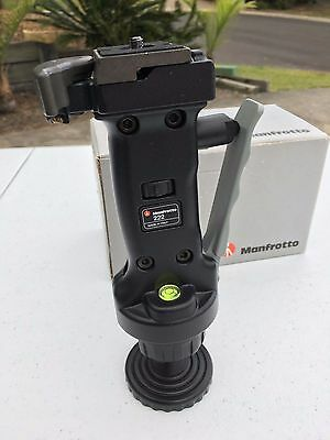 Manfrotto 222 Grip Action Joy Stick Ball Tripod Head W/ Quick Release