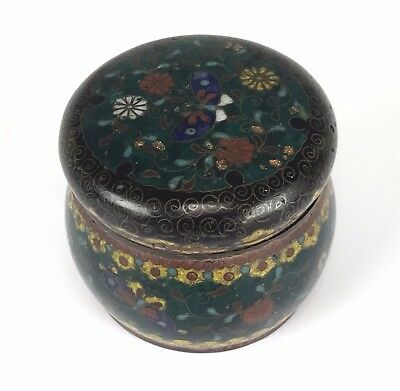 Very Old Antique Chinese Cloisonne Enamel Box