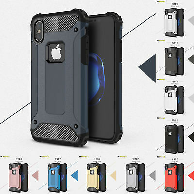 Luxury Shockproof Armor Hybrid Hard Back Case Cover For iPhone X 10 6 7 8 Plus