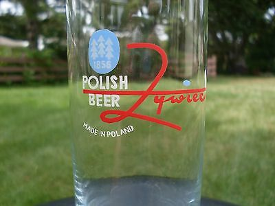 Set of two beer glasses Zywiec from Poland