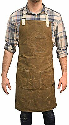 Readywares Aprons Heavy Duty Waxed Canvas Shop (Tan), Fits Small To XXL, For Men