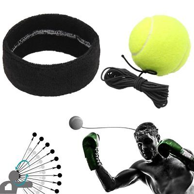Fight Ball With Head Band For Reflex Speed Training  Boxing  Punch Exercise UK