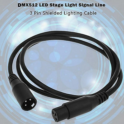 1~10 Pack 3 Pin 6.5ft DMX Stage DJ Lighting Cable Male to Female XLR Connector