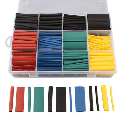 530pcs 2:1 Heat Shrink Tubing Tube Assortment Wire Cable Insulation Sleeving Kit