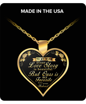 To My Wife Heart Necklace, Best Gift For Your Wife, I Love You