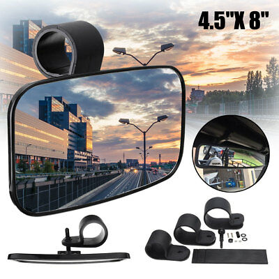 8'' Rear View Mirror Universal For ATV UTV Off Road Large Adjustable Wide Clear