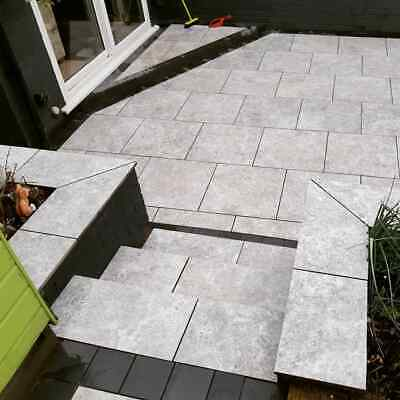 !!Clearance £100 reduced off packs!! Silver grey Travertine Vitrified Porcelain