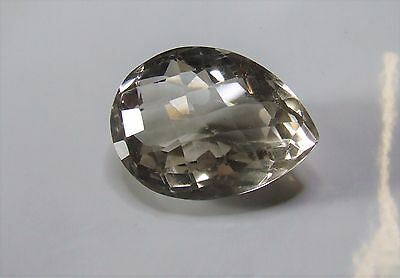Large pale Citrine pearcut gemstone..118.69 carat