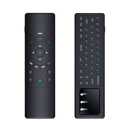 All in One 2.4GHz Mini Wireless Fly Air Mouse Keyboard Touchpad IR Control Black