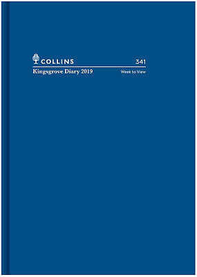 2019 Collins Kingsgrove Diary A4 Week to View Opening 341.P59-19 Hardcover BLUE