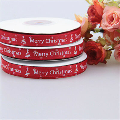 25yards/Roll Satin Ribbon Gift Wrapping Merry Christmas Happy New Year DIY Decor