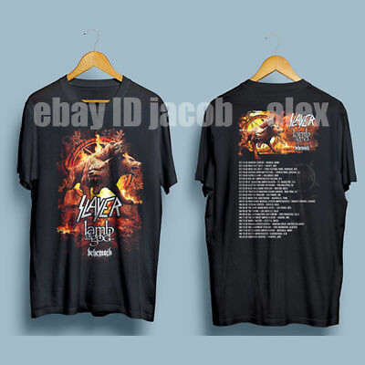 Slayer Lamb Of God Behemoth Tour 2017 Men's Gildan T-Shirt Black : S-XXL