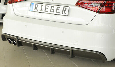 K99355 Spoiler sotto Paraurti Posteriore Audi A3 8V SLINE carbon look Rieger
