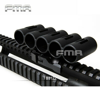 FMA Shotgun Shell Holder for 20mm Rail 5 Round Ammo Reload Pouch Quick Release