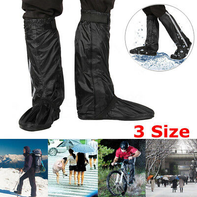 Waterproof Rainproof Over Shoe Boot Cover Motorcycle Cycling Riding Bike M L XL