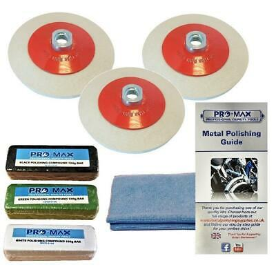 Angle Grinder Steel & Stainless Steel Metal Polishing Buffing Kit Pro-Max 8pc