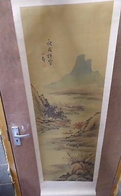 Vintage Chinese Silk Scroll Painting