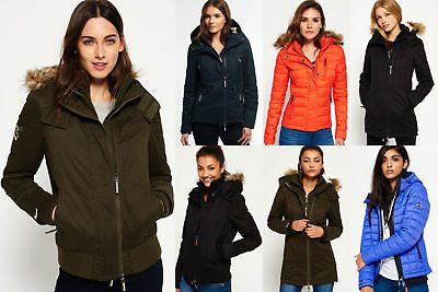 New Womens Superdry Jackets Selection - Various Styles & Colours 1209