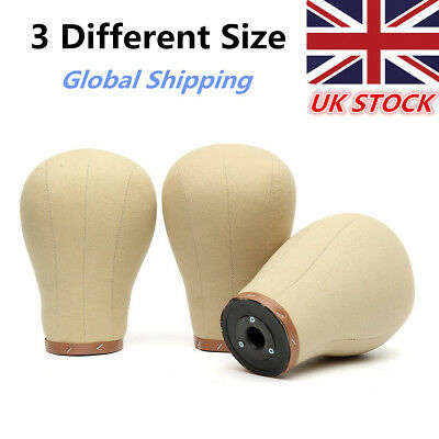 3 Size Cork Canvas Head Block Millinery Mannequin Toupee Wigs Hat Manikin Doll