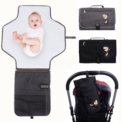 MECO Foldable Changing Mat Baby Kids Pad Nappy Bag Travel Storage Pockets