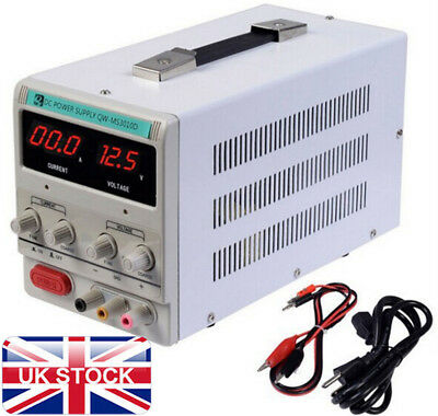 Lab Adjustable DC Power Supply Precision Variable Digital Voltage 0-10A 0-30V UK