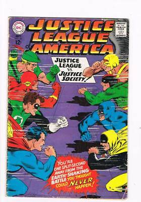 Justice League of America # 56  JSA crossover  grade 4.0 scarce book !!