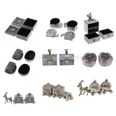 MagiDeal Antique Silver First Tooth & Curl Box Keepsake Baby Shower Kids Gift