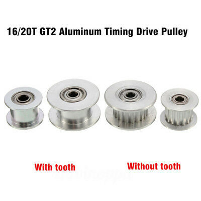 16/20T GT2 Aluminum Timing Drive Pulley For DIY 3D Printer With/Without Tooth