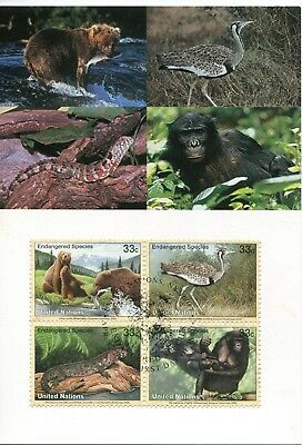 United Nations Vienna 2000 Endangered Species Maxicard FDC