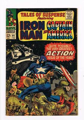 Tales of Suspense # 86  Greatest Action Issue ! grade 5.5 scarce book !!