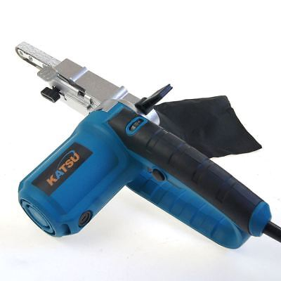 KATSU 400W Electric Power File Belt Needle Sander Soft Grip W/ Belts BMC