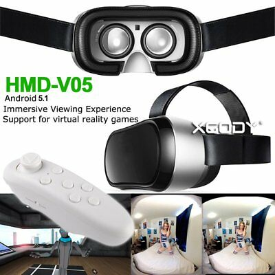 "3D Virtual Reality Glasses 5"" IPS Screen Android OS Bluetooth WIFI Quad Core CPU"