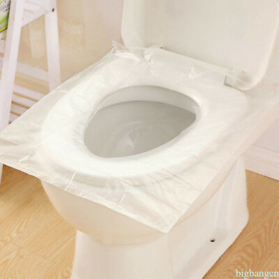 Disposable Toilet Seat Cushion Covers 10pcs For Travel Camp Anti-Bacterial NEW M