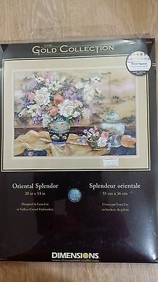 Dimensions Gold ORIENTAL SPLENDOR Crewel Embroidery Kit