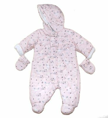 Baby Girl Chloe Louise Designer Snowsuit All in One coat  Pink 0- 12 Months