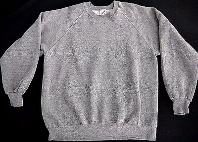 VINTAGE TRI BLEND rayon BLANK crew neck sweatshirt Jerzees made in USA XL euc