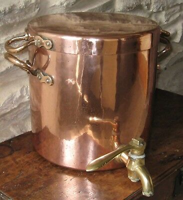 Victorian Antique Lidded Copper Urn Made For Harrods London