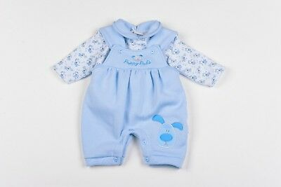 Baby Boy Clothes Dungarees top outfit  Fleece Aardvark Blue Newborn 0-3 m 3-6 m