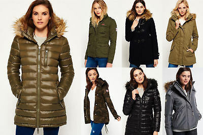 New Womens Superdry Jackets Selection - Various Styles & Colours 1509