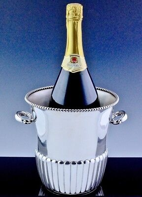 Gorgeous Large Camusso Peruvian Sterling Silver Champagne Wine Cooler Bucket N/r