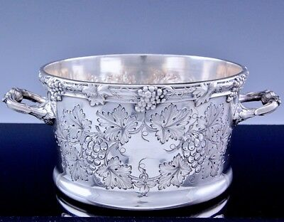 Top Qualty Charles Howard Collins Silver Plate Grape Vine Ice Bucket Wine Cooler