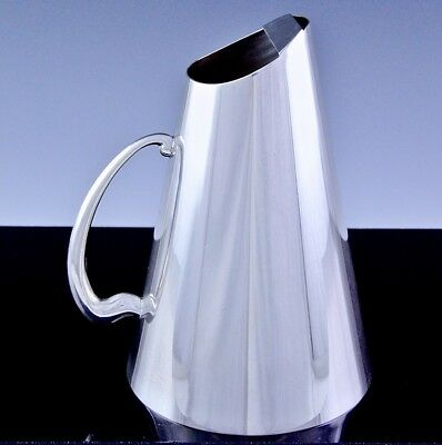 Very Stylish Mid Century Birks Primrose Silver Plate Ice Lip Water Pitcher Jug