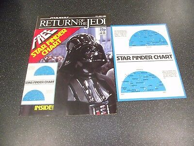 Star Wars Return Of The Jedi Comic #3 7Th July 1983 With Star Finder Chart