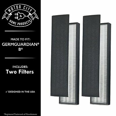 TWO HEPA & Carbon PreFilters for GermGuardian B ; FLT4825 -AC4300/AC4800/4900