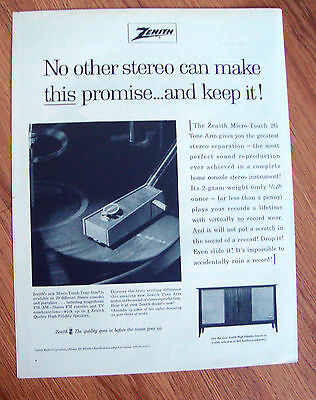 1963 Zenith High Fidelity Stereo Phonograph Radio Ad