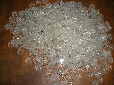 1000 Vintage Carved Glass Beads Flowers for chandelier parts