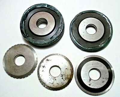 Lot of 7,  PERFORATED SLITTER WHEELS ROTARY PRINTING PRESS ACCESSORY. PERF WHEEL
